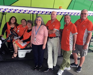 Photo of a group of PCH volunteers with the Stitches' Shuttle