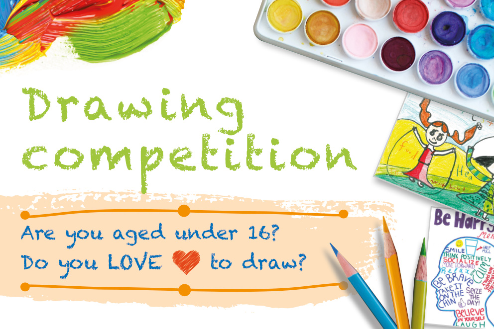 Drawing competition ad