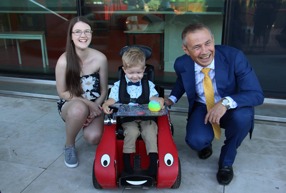Alysha (mum), son (Ari) and the Hon. Roger Cook, Minister for Health