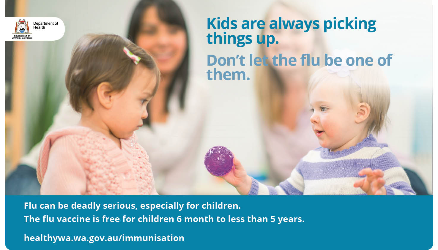 Flu shots for children poster