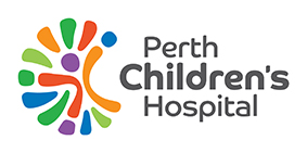 Colourful PCH logo with jellybean shapes surrounding child figure