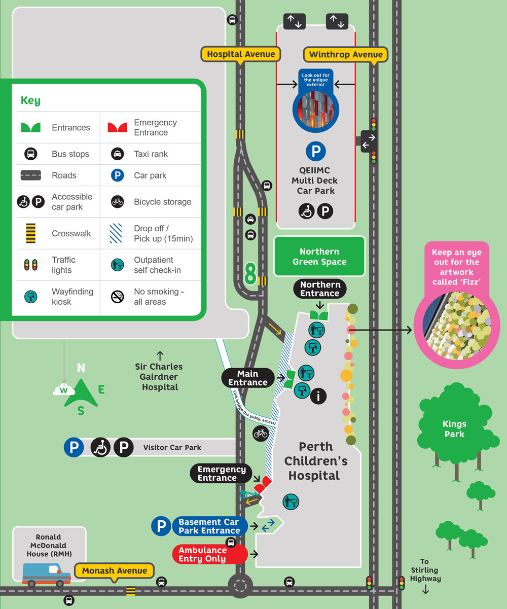 Site Map For Web Page: Hospital Map